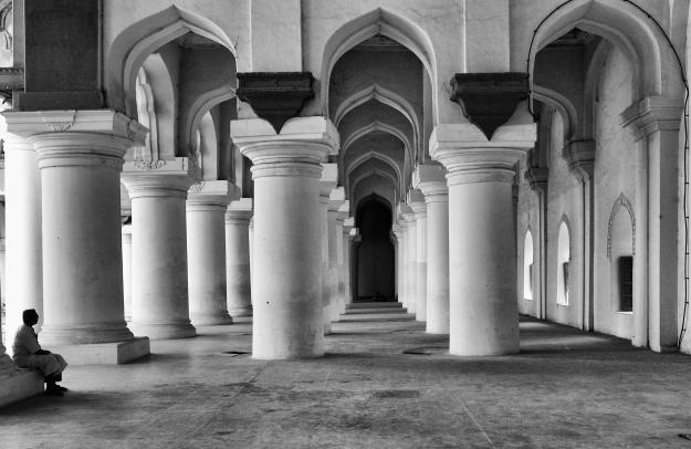 Inside the Thirumalai Nayakkar Mahal, Madurai, India