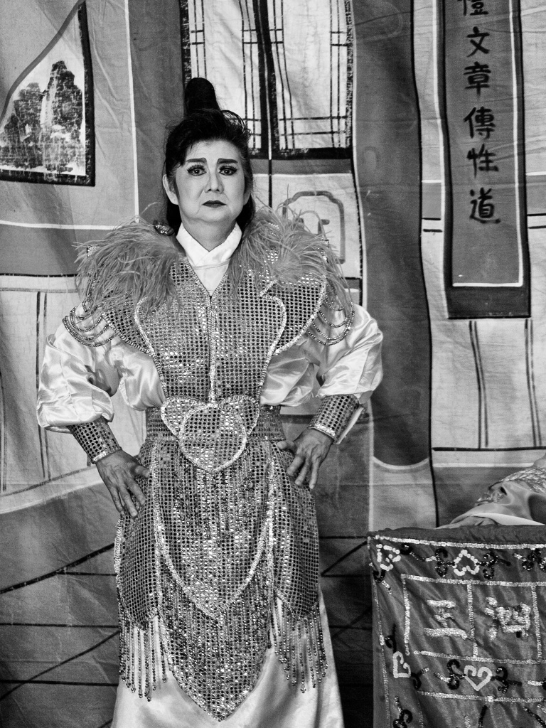 A Chinese Opera actress at a play, Hougang, Singapore