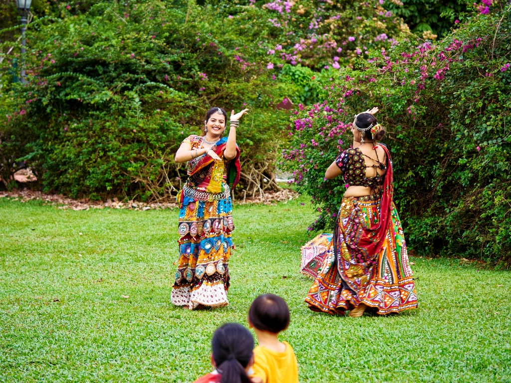 Dancers doing their rehearsal at Singapore Botanic Gardens, Singapore