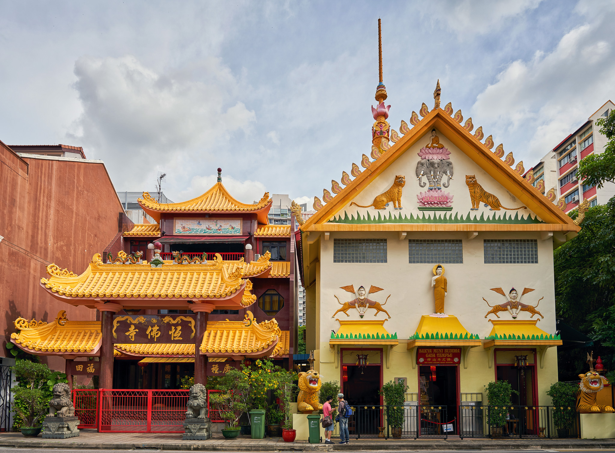 Sakya Muni Buddha Gaya Temple at the Race Course Road, Singapore
